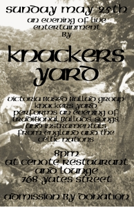 KNACKERS YARD MAY 25