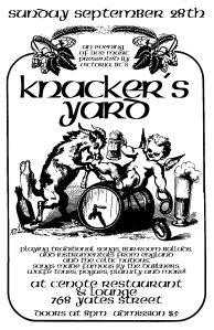 knacker's yard september 28th